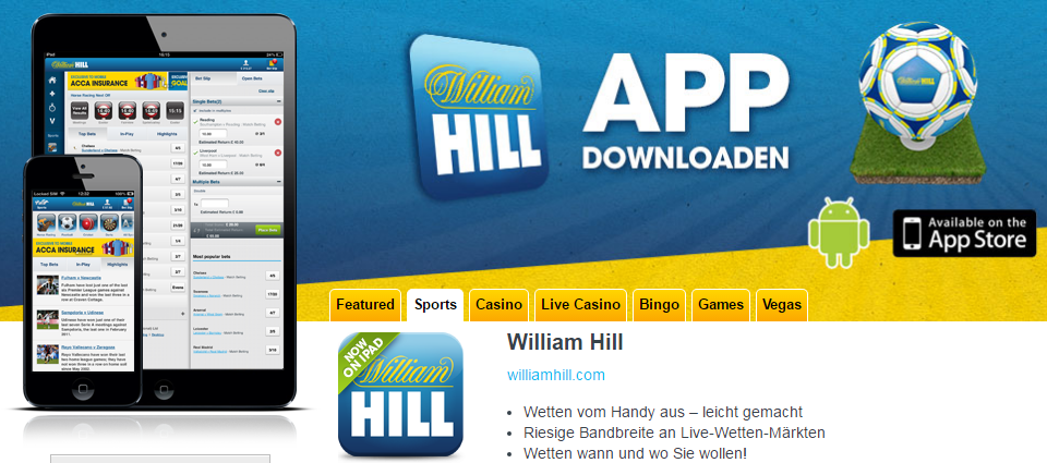 William Hill App deutsch