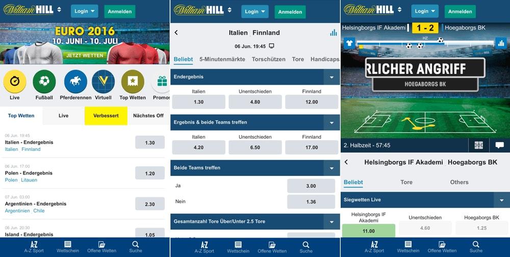William Hill app