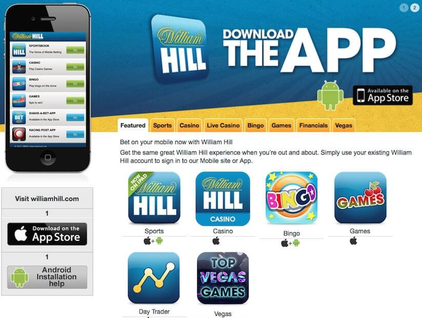 William Hill Review - Mobile app